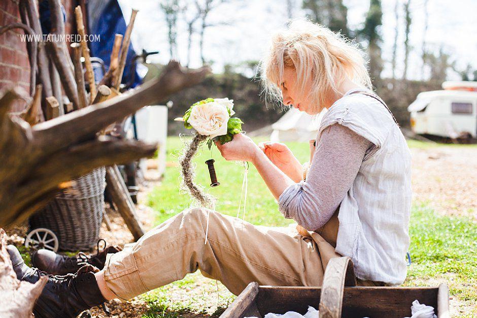 Bohemian bride, boho bride, floral headwear for brides, outdoor wedding, Norfolk, Norwich, Tatum Reid (30)