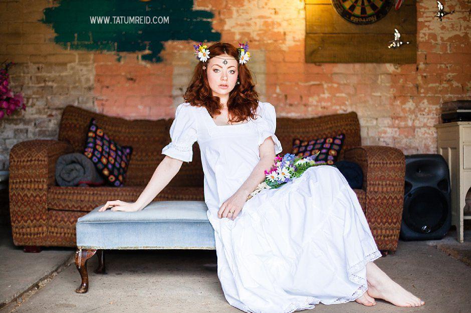 Bohemian bride, boho bride, floral headwear for brides, outdoor wedding, Norfolk, Norwich, Tatum Reid (24)