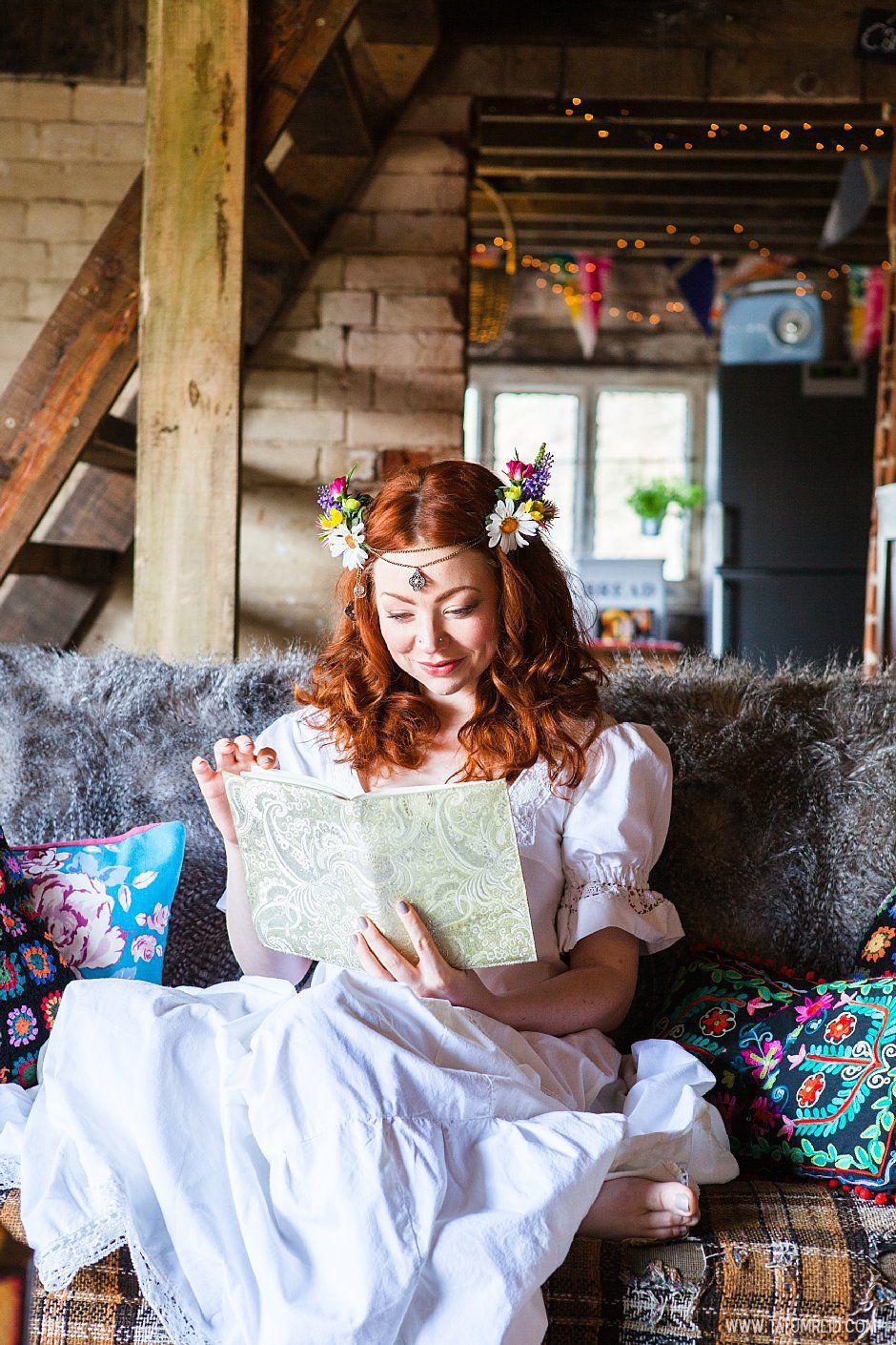 Bohemian bride, boho bride, floral headwear for brides, outdoor wedding, Norfolk, Norwich, Tatum Reid (23)