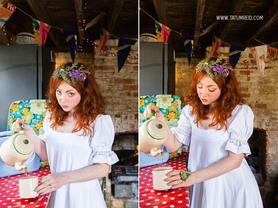 Bohemian bride, boho bride, floral headwear for brides, outdoor wedding, Norfolk, Norwich, Tatum Reid (20)