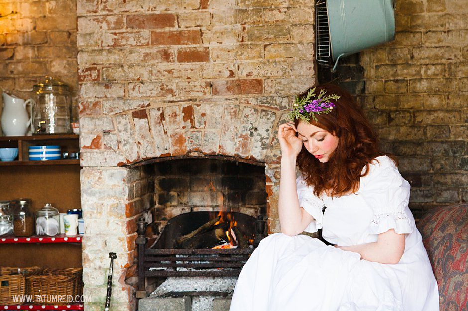 Bohemian bride, boho bride, floral headwear for brides, outdoor wedding, Norfolk, Norwich, Tatum Reid (19)