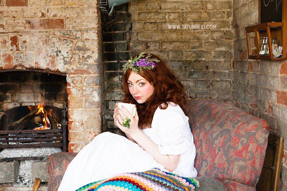 Bohemian bride, boho bride, floral headwear for brides, outdoor wedding, Norfolk, Norwich, Tatum Reid (18)