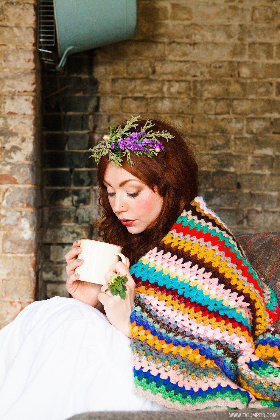 Bohemian bride, boho bride, floral headwear for brides, outdoor wedding, Norfolk, Norwich, Tatum Reid (17)