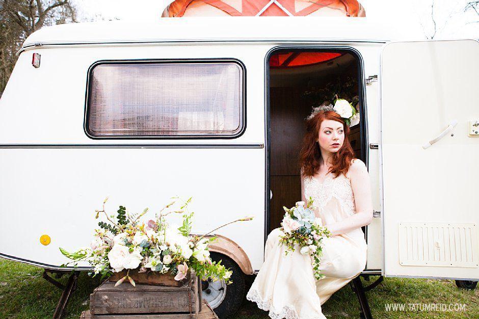Bohemian bride, boho bride, floral headwear for brides, outdoor wedding, Norfolk, Norwich, Tatum Reid (12)
