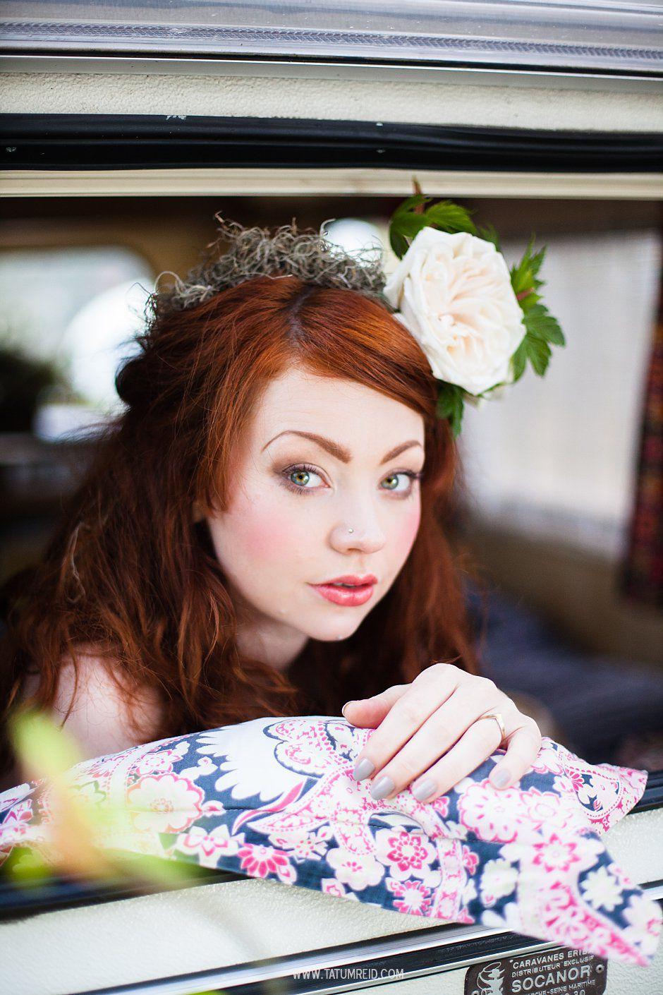 Bohemian bride, boho bride, floral headwear for brides, outdoor wedding, Norfolk, Norwich, Tatum Reid (9)