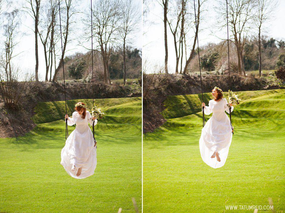 Bohemian bride, boho bride, floral headwear for brides, outdoor wedding, Norfolk, Norwich, Tatum Reid (3)