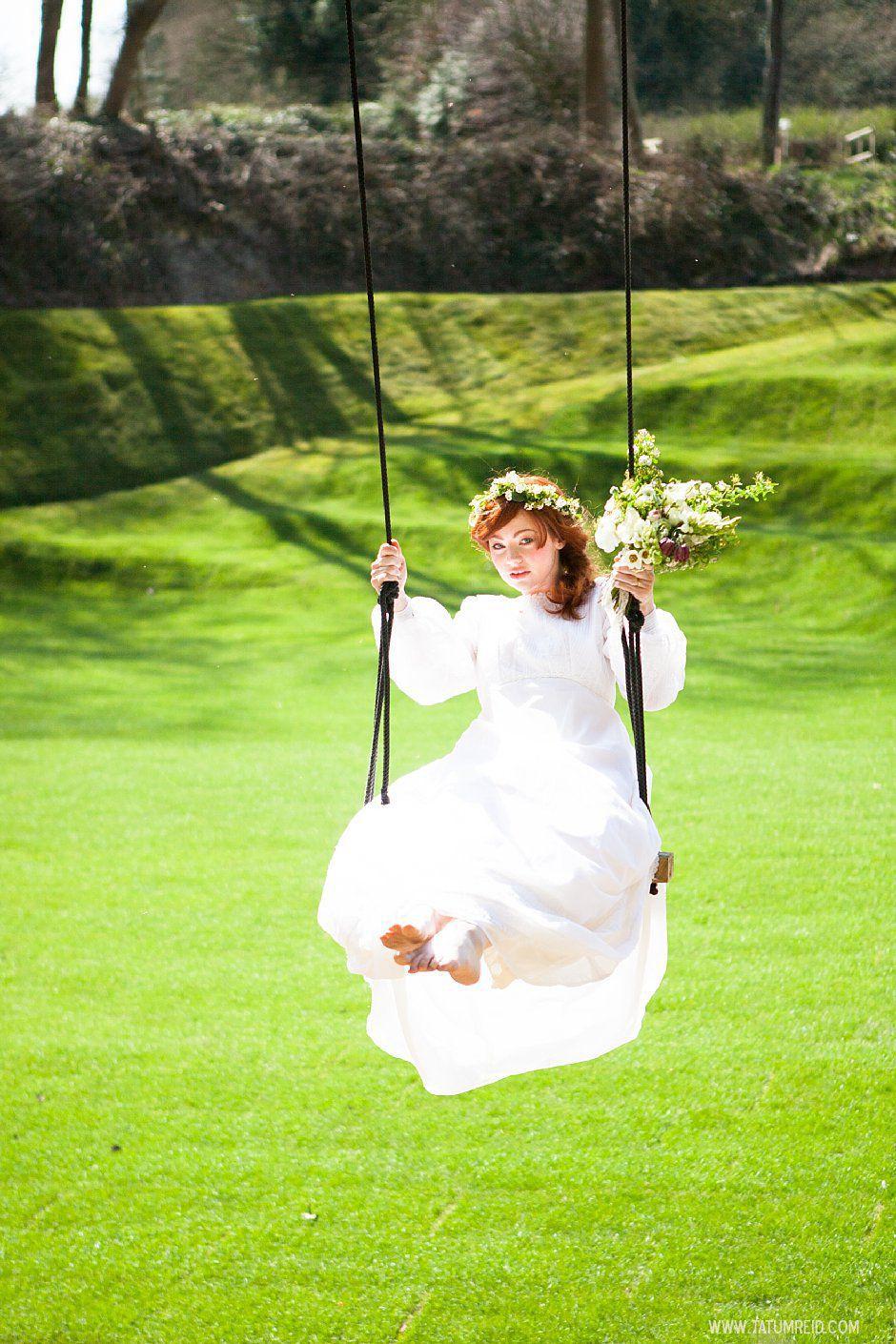 Bohemian bride, boho bride, floral headwear for brides, outdoor wedding, Norfolk, Norwich, Tatum Reid (2)