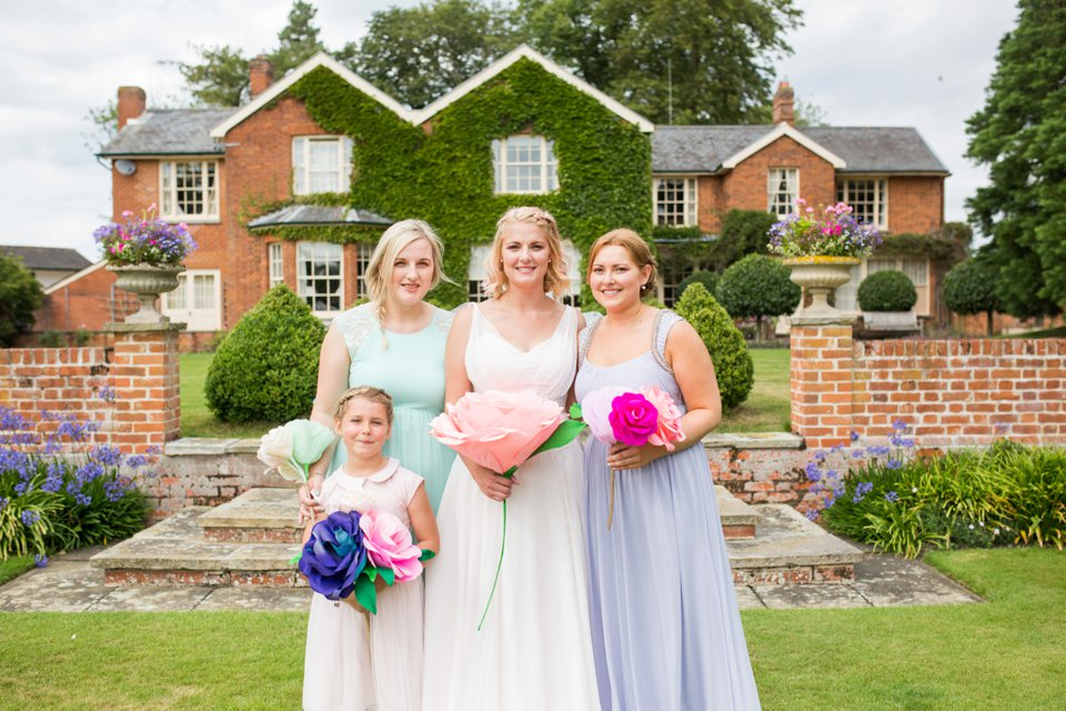 Garden Barn Suffolk wedding photography_tatum reid_blush pink bride_pastel dresses, multicolour, diy wedding decor_succulents_paper flowers_garden games_newmarket (36)