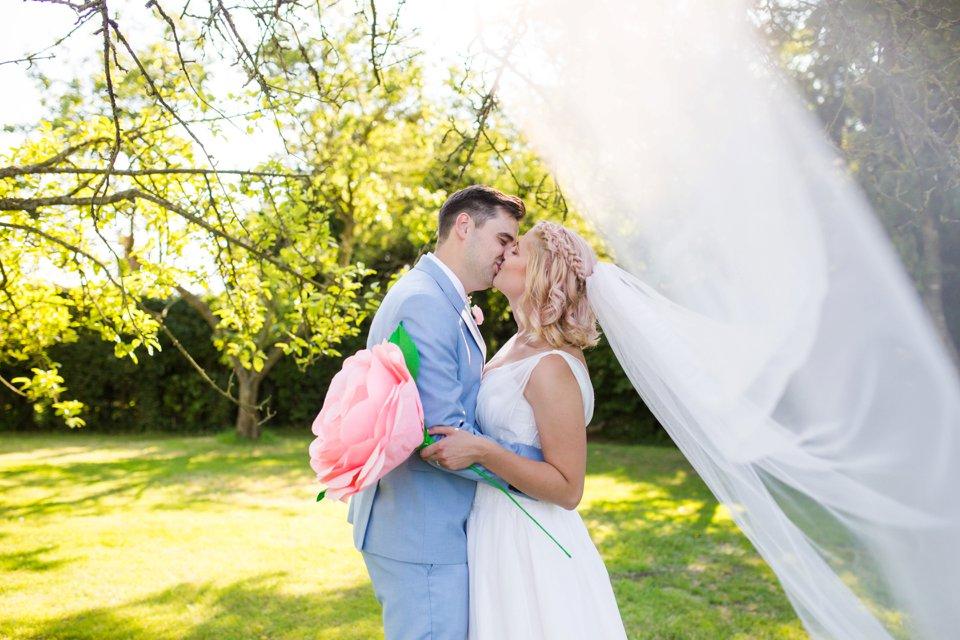 Garden Barn Suffolk wedding photography_tatum reid_blush pink bride_pastel dresses, multicolour, diy wedding decor_succulents_paper flowers_garden games_newmarket (26)