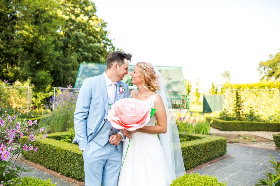 Garden Barn Suffolk wedding photography_tatum reid_blush pink bride_pastel dresses, multicolour, diy wedding decor_succulents_paper flowers_garden games_newmarket (23)