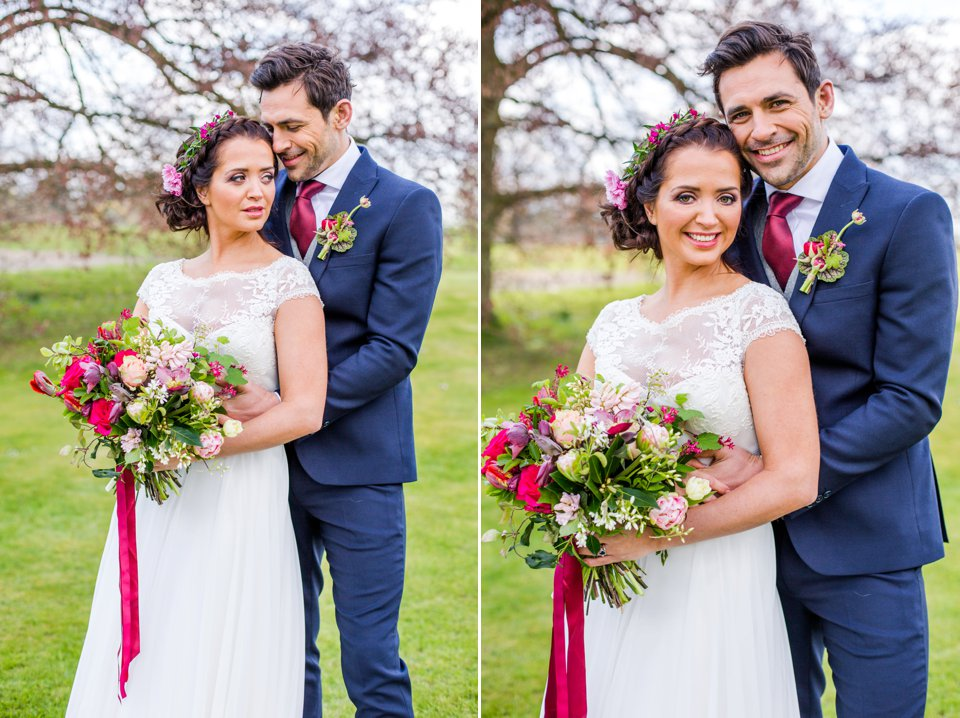 Narborough Hall gardens_ Norfolk wedding venue_rustic_boho_burgundy_loose flowers_floral crown_calligraphy_tatum reid photography (109)