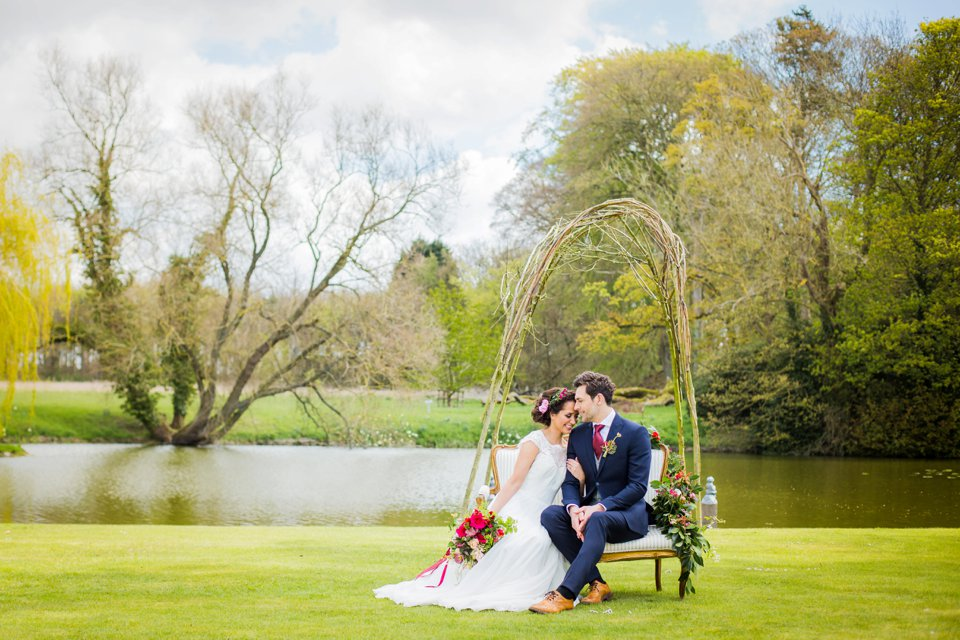 Narborough Hall gardens_ Norfolk wedding venue_rustic_boho_burgundy_loose flowers_floral crown_calligraphy_tatum reid photography (105)