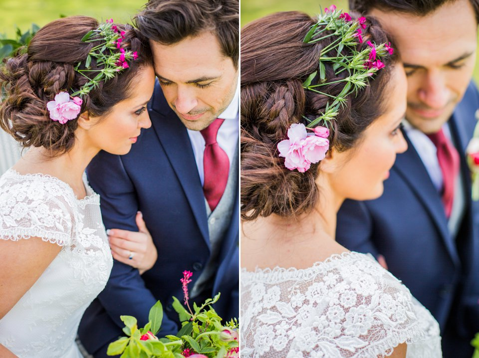 Narborough Hall gardens_ Norfolk wedding venue_rustic_boho_burgundy_loose flowers_floral crown_calligraphy_tatum reid photography (104)