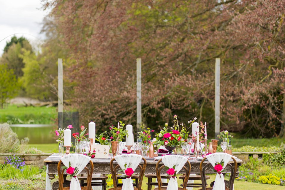 Narborough Hall gardens_ Norfolk wedding venue_rustic_boho_burgundy_loose flowers_floral crown_calligraphy_tatum reid photography (97)
