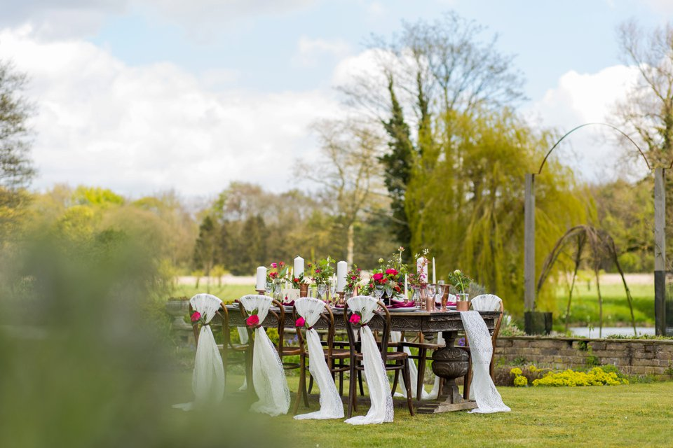 Narborough Hall gardens_ Norfolk wedding venue_rustic_boho_burgundy_loose flowers_floral crown_calligraphy_tatum reid photography (96)