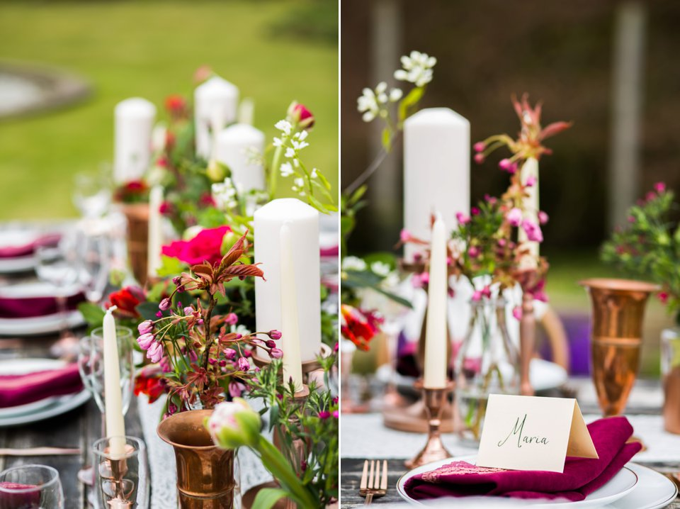 Narborough Hall gardens_ Norfolk wedding venue_rustic_boho_burgundy_loose flowers_floral crown_calligraphy_tatum reid photography (94)