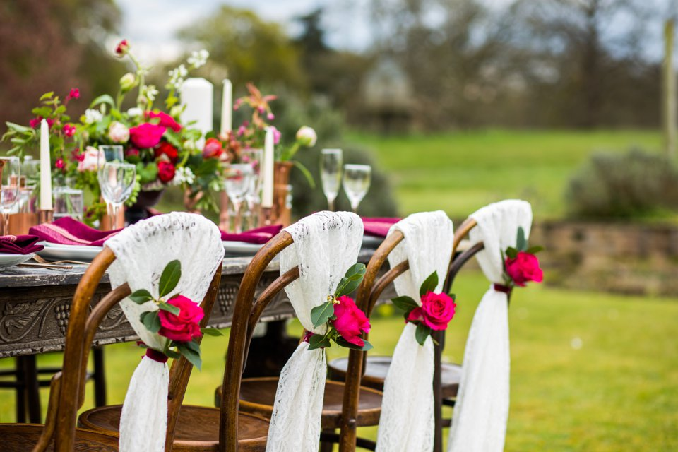 Narborough Hall gardens_ Norfolk wedding venue_rustic_boho_burgundy_loose flowers_floral crown_calligraphy_tatum reid photography (93)