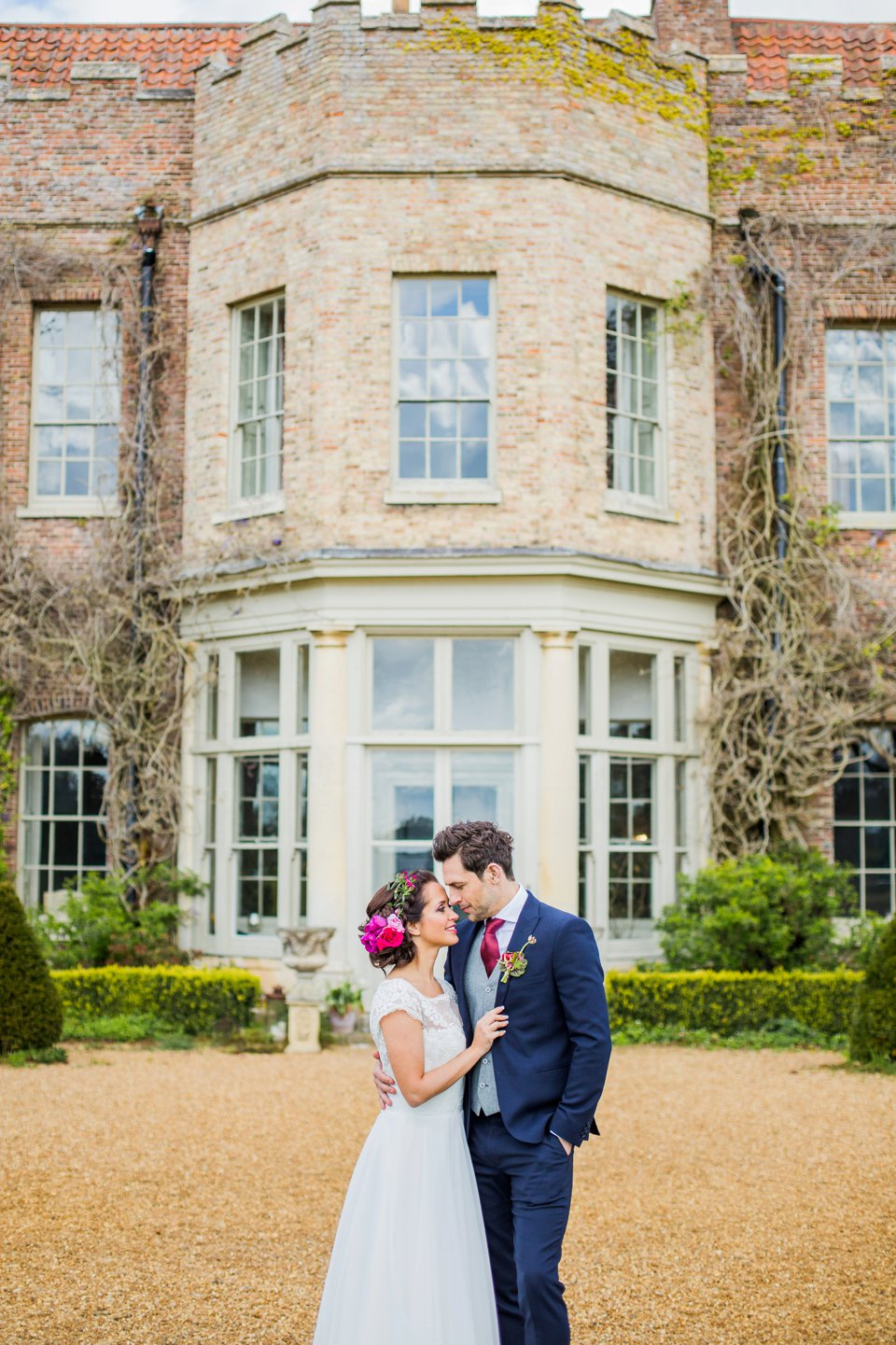 Narborough Hall gardens_ Norfolk wedding venue_rustic_boho_burgundy_loose flowers_floral crown_calligraphy_tatum reid photography (90)