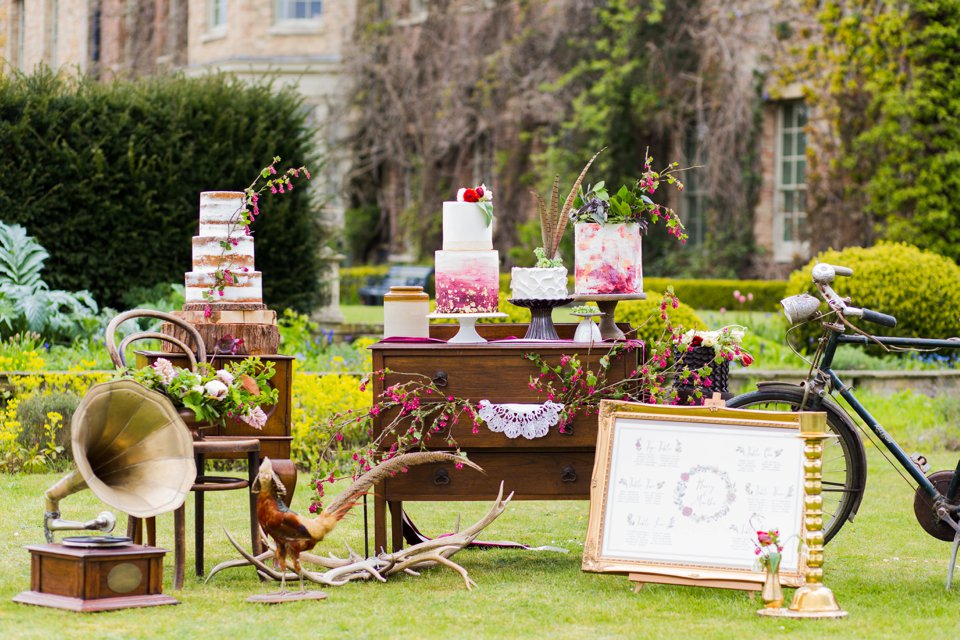 Narborough Hall gardens_ Norfolk wedding venue_rustic_boho_burgundy_loose flowers_floral crown_calligraphy_tatum reid photography (80)