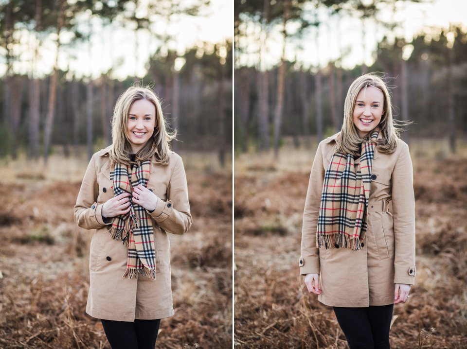 Norwich norfolk woodland engagement winter prewedding shoot with earth tones_beige mac and scarves_©tatum reid (4)