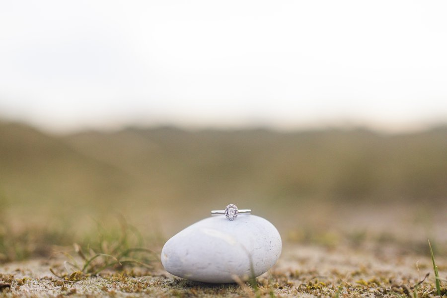 Intimate pre-wedding shoot on a deserted Norfolk beach