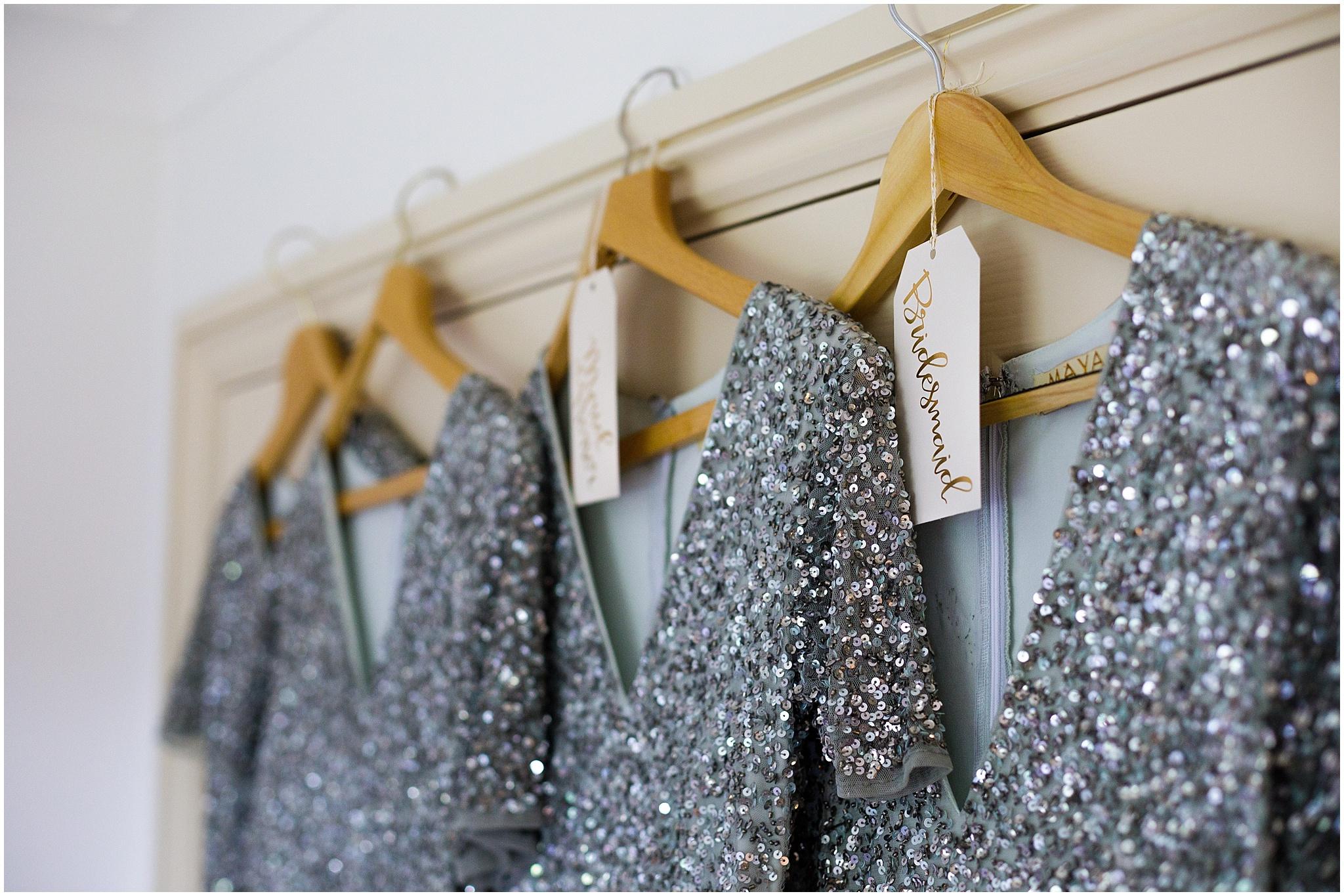 sliver glitter bridesmaids dresses naomi neoh