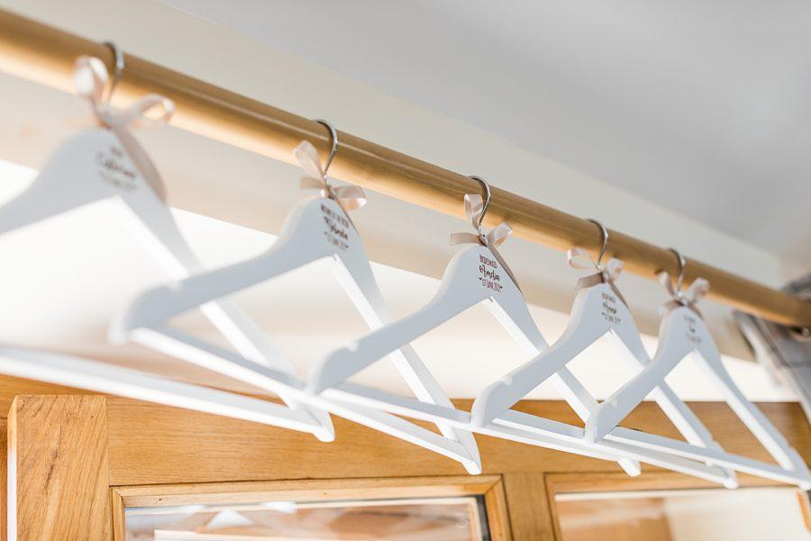 Southwood Hall wedding wedding dress hangers
