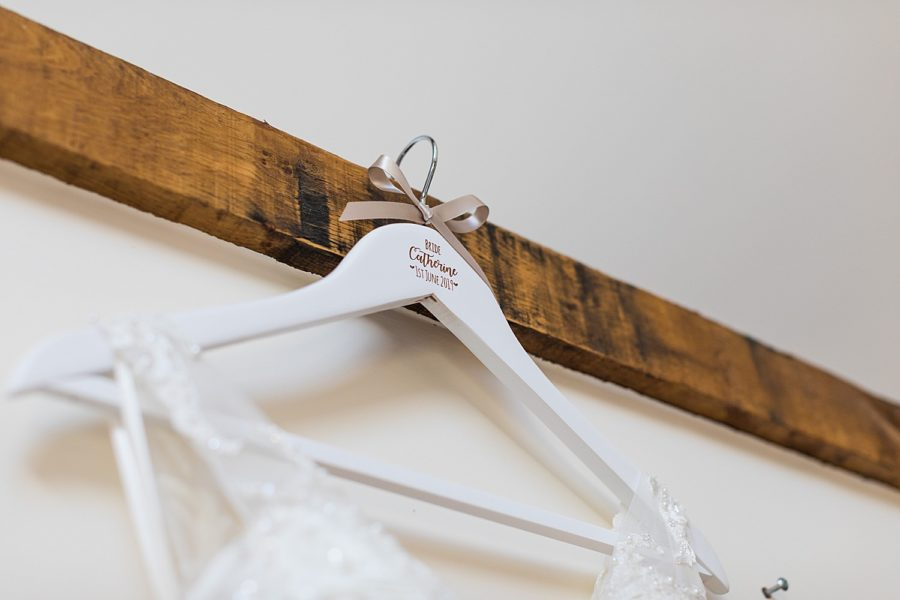 Southwood Hall wedding personalised bridal dress hanger