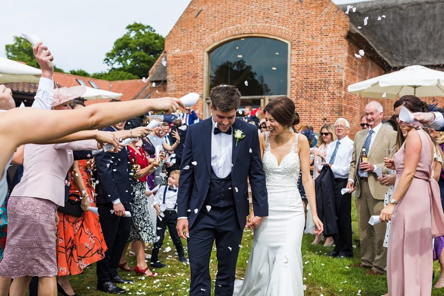 Southwood Hall wedding bride and groom confetti