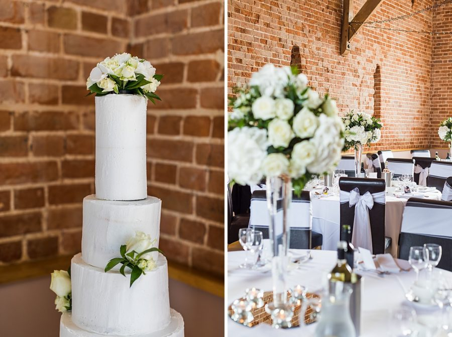 Southwood Hall  white wedding cake