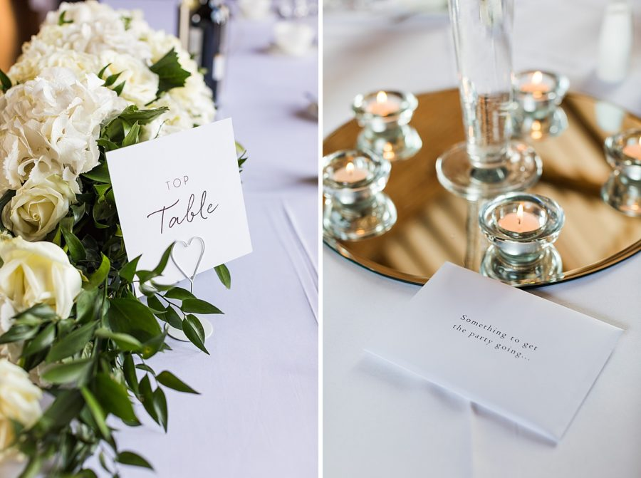 Southwood Hall wedding table decoration ideas