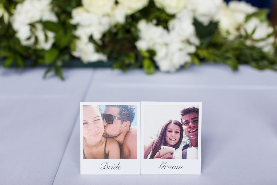 Southwood Hall wedding place card names for bride and groom