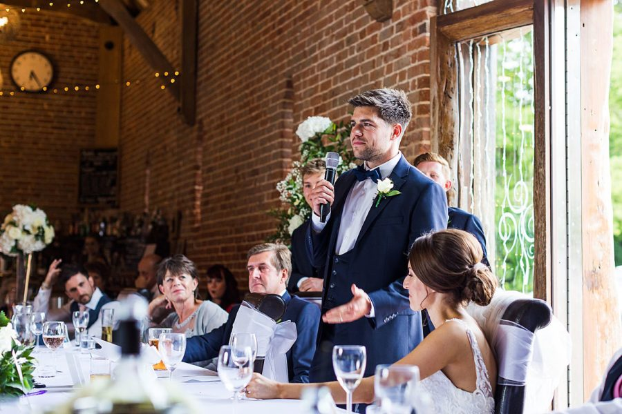 Southwood Hall wedding groom speech