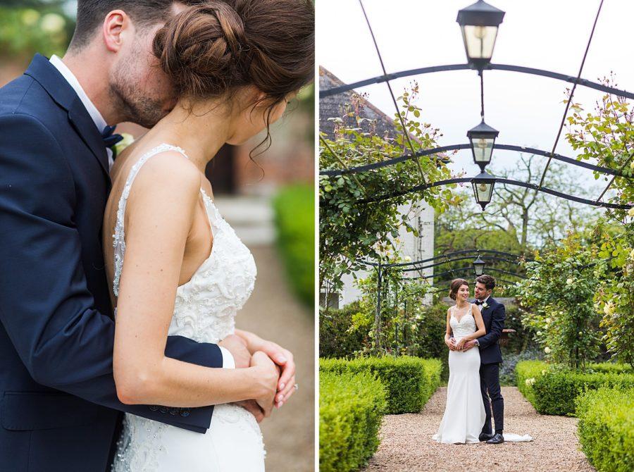 bride and groom inside secret garden at Southwood Hall