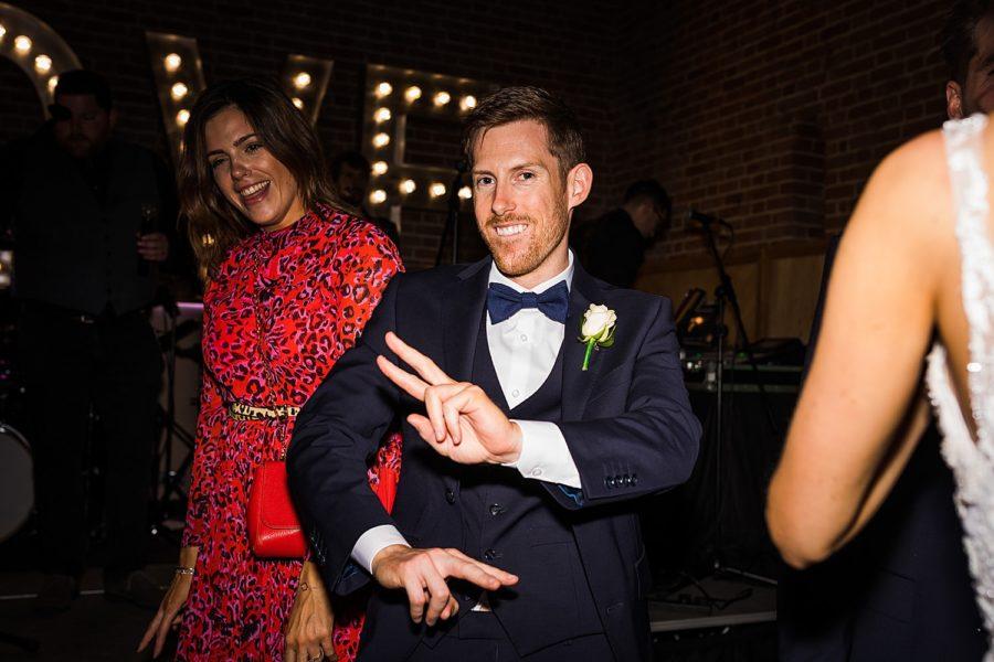 Southwood Hall wedding guests dancing on dancefloor